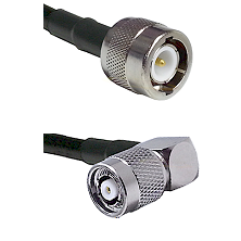 C Male on LMR100 to TNC Reverse Polarity Right Angle Male Cable Assembly