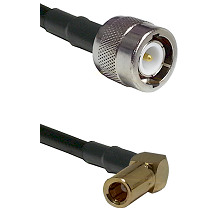C Male on LMR100 to SLB Right Angle Female Cable Assembly