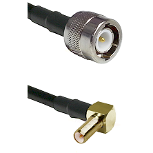 C Male on LMR100 to SLB Right Angle Male Cable Assembly
