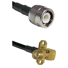 C Male on LMR100 to SMA 2 Hole Right Angle Female Cable Assembly