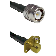 C Male on LMR100 to SMA 4 Hole Right Angle Female Cable Assembly