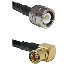 C Male on LMR100 to SMB Right Angle Female Cable Assembly