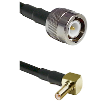 C Male on LMR100 to SSLB Right Angle Male Cable Assembly