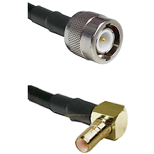 C Male on LMR100 to SSMB Right Angle Male Cable Assembly