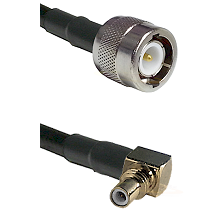 C Male on LMR100 to SSMC Right Angle Male Cable Assembly
