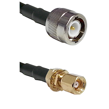 C Male on LMR100 to SMC Female Bulkhead Cable Assembly