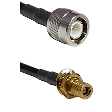 C Male on LMR100 to SSMB Female Bulkhead Cable Assembly