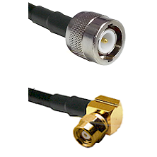 C Male on LMR-195-UF UltraFlex to SMC Right Angle Female Cable Assembly