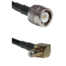C Male on LMR-195-UF UltraFlex to SMC Right Angle Male Cable Assembly