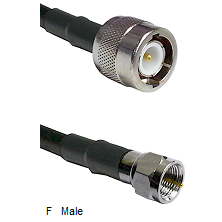 C Male Connector On LMR-240UF UltraFlex To F Male Connector Cable Assembly