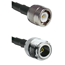 C Male Connector On LMR-240UF UltraFlex To N Female Connector Cable Assembly