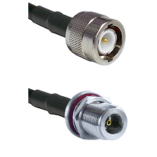 C Male Connector On LMR-240UF UltraFlex To N Female Bulkhead Connector Cable Assembly