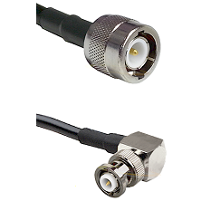 C Male Connector On LMR-240UF UltraFlex To MHV Right Angle Male Connector Cable Assembly