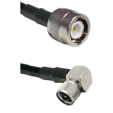C Male Connector On LMR-240UF UltraFlex To Mini-UHF Right Angle Male Connector Coaxial Cable Assembl