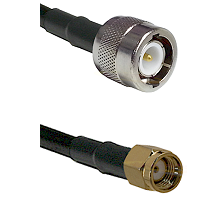 C Male Connector On LMR-240UF UltraFlex To SMA Reverse Polarity Male Connector Coaxial Cable Assembl
