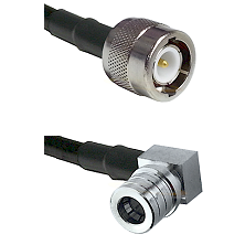 C Male Connector On LMR-240UF UltraFlex To QMA Right Angle Male Connector Cable Assembly
