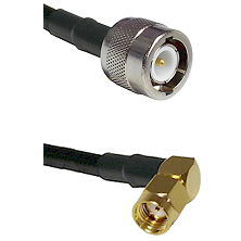 C Male Connector On LMR-240UF UltraFlex To SMA Reverse Polarity Right Angle Male Connector Coaxial C