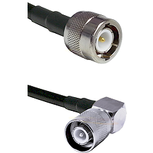 C Male Connector On LMR-240UF UltraFlex To SC Right Angle Male Connector Cable Assembly