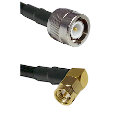 C Male Connector On LMR-240UF UltraFlex To SMA Right Angle Male Connector Cable Assembly