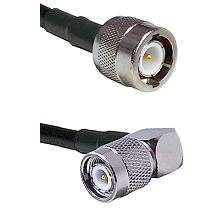 C Male Connector On LMR-240UF UltraFlex To TNC Right Angle Male Connector Cable Assembly