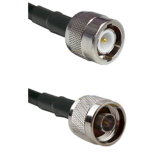 C Male Connector On LMR-240UF UltraFlex To N Reverse Thread Male Connector Cable Assembly