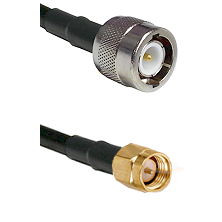 C Male Connector On LMR-240UF UltraFlex To SMA Reverse Thread Male Connector Cable Assembly
