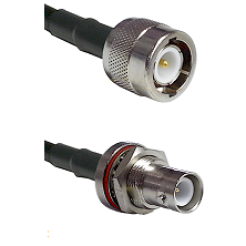 C Male Connector On LMR-240UF UltraFlex To SHV Bulkhead Jack Connector Cable Assembly