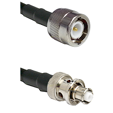 C Male Connector On LMR-240UF UltraFlex To SHV Plug Connector Cable Assembly