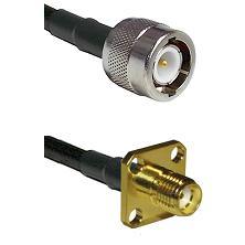 C Male Connector On LMR-240UF UltraFlex To SMA 4 Hole Female Connector Cable Assembly
