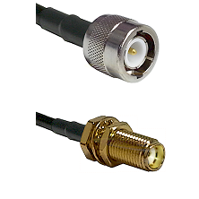 C Male Connector On LMR-240UF UltraFlex To SMA Female Bulkhead Connector Cable Assembly