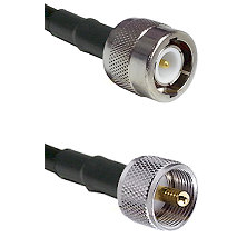 C Male Connector On LMR-240UF UltraFlex To UHF Male Connector Cable Assembly