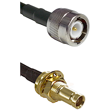 C Male on RG142 to 10/23 Female Bulkhead Cable Assembly