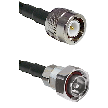C Male on RG142 to 7/16 Din Male Cable Assembly