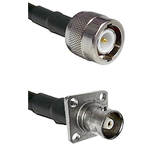 C Male on RG142 to C 4 Hole Female Cable Assembly