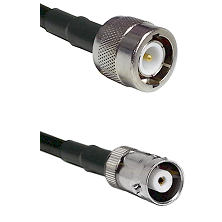 C Male on RG142 to MHV Female Cable Assembly