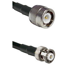C Male on RG142 to MHV Male Cable Assembly
