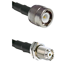C Male on RG142 to Mini-UHF Female Cable Assembly