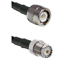 C Male on RG58 to Mini-UHF Female Cable Assembly