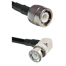 C Male on RG58C/U to BNC Right Angle Male Cable Assembly