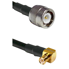 C Male on RG58C/U to MCX Right Angle Male Cable Assembly
