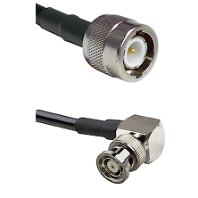 C Male on RG58C/U to BNC Reverse Polarity Right Angle Male Cable Assembly