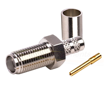 SMA Female Nickel Plated Crimp Connector for RG-142/U & RG-55/U
