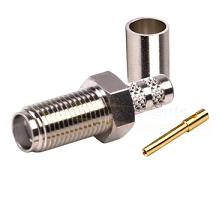 SMA Female Nickel Plated Crimp Connector for RG-142/U & RG-55/U