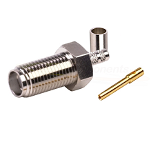SMA, FEMALE STRAIGHT CRIMP, Nickel FOR RG-174/U & RG316/U, LMR100A