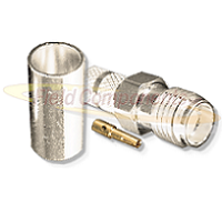 SMA, FEMALE CRIMP, Nickel,Gold,T; FOR RG-8/X, CBL GRP X