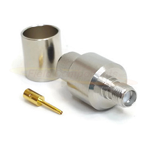 SMA Female Crimp Jack for LMR400 Crimp Impedance 50ohm DC-12.4GHz Brass Plated Nickel