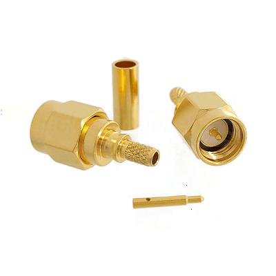 SMA Male Plug for RG174, RG179, RG187, RG188, RG316, LMR100A Connectors