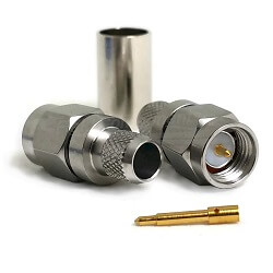 SMA Male Stainless Steel Connector for LMR240 RG8X (Crimp)