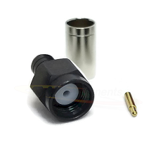 SMA Male Plug for LMR200 Crimp Impedance 50ohm DC-12.4GHz Brass Plated Black Chrome
