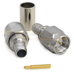 SMA Male Crimp Plug for SF-142 50ohm Passivated Stainless Steel